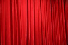 Red stage curtain.  Royalty Free Stock Image