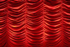 Red stage curtain Royalty Free Stock Photos