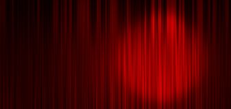 Red stage curtain background Stock Illustration