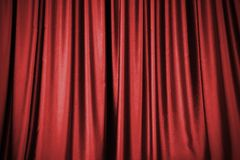 Red stage curtain background. For design work stock photos