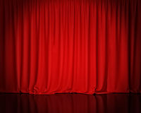 Red stage curtain, background. Template design Stock Image