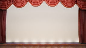 Red stage curtain closing. stock video footage