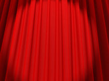 Red stage curtain. 3d high quality render Royalty Free Stock Image