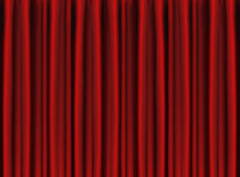 Red Stage Curtain Drapes Royalty Free Stock Images