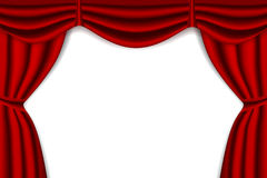 Red Stage Curtain Stock Photography