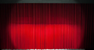 Red stage curtain Royalty Free Stock Images