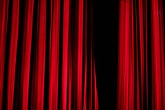 Red stage curtain in new year show Royalty Free Stock Photo