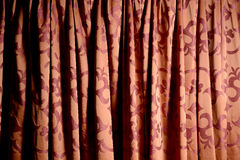 Red stage curtain texture Stock Image