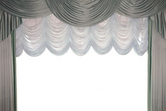 Red stage curtain with a tull Stock Image