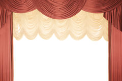 Red stage curtain with a tull Royalty Free Stock Image