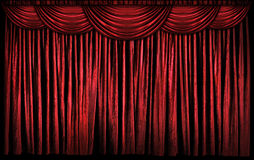 Red Stage Curtains Royalty Free Stock Photography