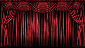 Red Stage Curtains stock images
