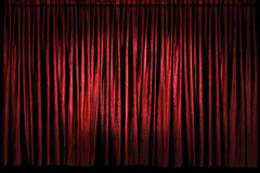 Red Stage Curtains Stock Image