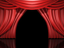 Red stage drapes Royalty Free Stock Photo