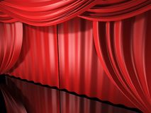 Red stage drapes Royalty Free Stock Photos