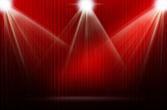 Red stage light as background Royalty Free Stock Photos