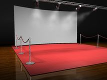 Red stage lighting Stock Image