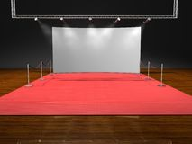 Red stage lighting Royalty Free Stock Photography