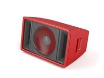 Red stage speaker. On white background stock illustration