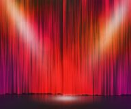 Red Stage Spotlight Background Royalty Free Stock Images