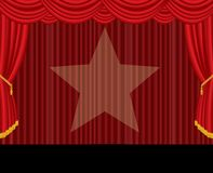 Red stage star Stock Photos