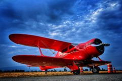 Red Staggerwing Royalty Free Stock Images