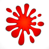 Red stain. Red stain on white background. 3d illustration Royalty Free Stock Photo