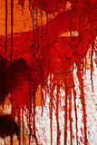 Red stained wall Stock Photography