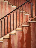 Red stair Stock Photo