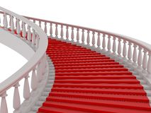 Red stair Stock Photos