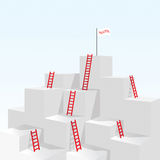 Red stair ladder up to success business concept Royalty Free Stock Image