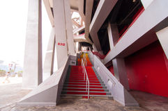 Red stair at National Stadium,Beijing,China on 22 May 2013 Stock Photography
