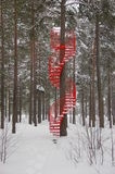 Red Staircase Royalty Free Stock Images