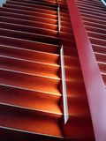 Red stairs. Stars way interior stock image