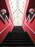 Red stairs Stock Images