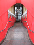 Red stairs Stock Photography