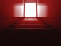 Red stairs. 3d rendering illustration of red shiny stairs Stock Images