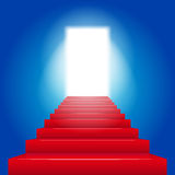 Red stairs background Royalty Free Stock Images
