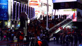 Red Stairs at Times Square TKTS pavillion USA cityscapes stock footage