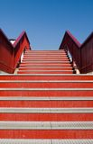 Red stairs Royalty Free Stock Image
