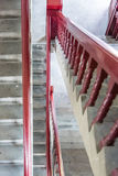 The red stairs in Wangyue Tower Royalty Free Stock Photography