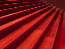 Red stairway Royalty Free Stock Photos
