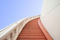 Red stairway of golden mountain Stock Photography
