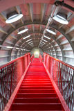 Red stairway sucessful concept. Perspective of Red stairway, concept of successful career elevation Royalty Free Stock Images