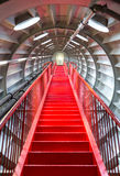 Red stairway sucessful concept. Perspective of Red stairway, concept of successful career elevation Royalty Free Stock Image