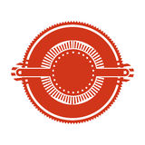 Red stamp abstract art deco emblem. Vector illustration Royalty Free Stock Photography