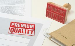A red stamp on a document - Premium Quality Royalty Free Stock Photography