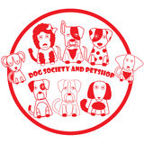 Red stamp dog Royalty Free Stock Images