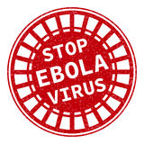Red stamp with Ebola concept text on white. Background.  illustration for warning informing about deadly virus disease Stock Images