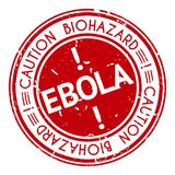 Red stamp with Ebola concept text on white Stock Photo